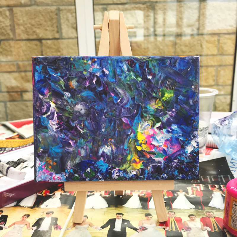 how to make an abstract acrylic painting creative blog