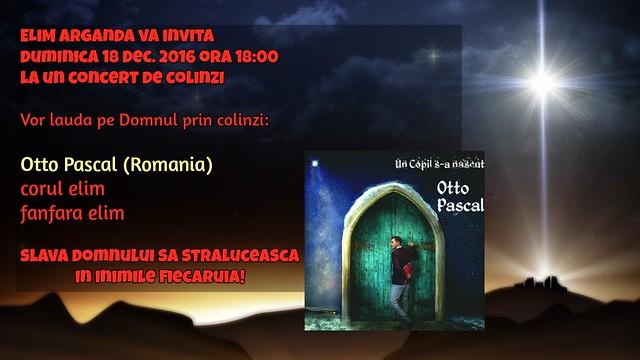 Duminica 18 dec. 2016 Concert de Colinzi