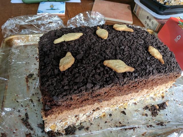 Soil horizon cake