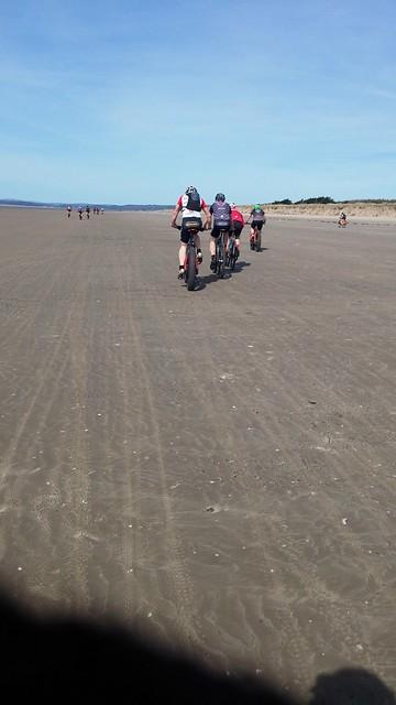 Chasing down the beach