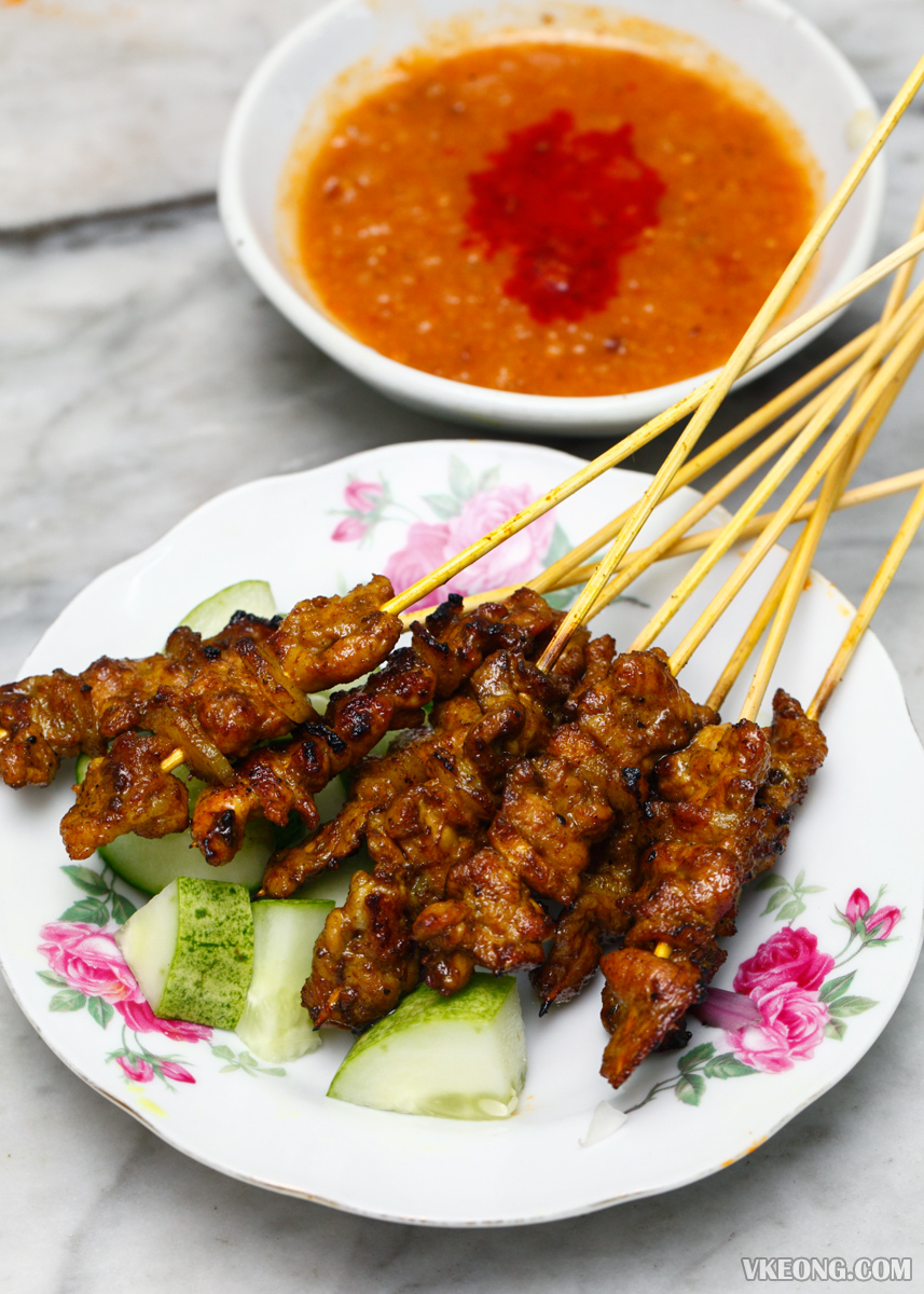 Hainanaese Pork Satay with Pineapple Sambal