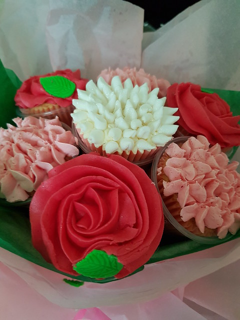 perfumes and cupcake flowers