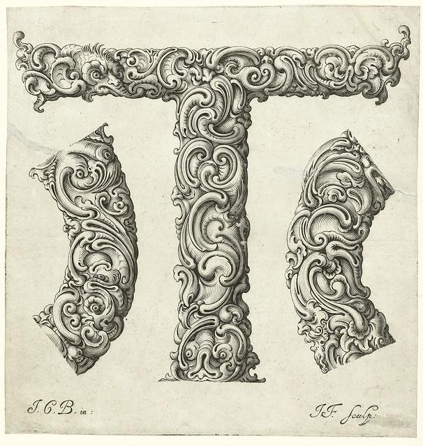 020-Letra T-Libellus Novus Elementorum Latinorum -J. C. Bierpfaff-  Rijksmuseum