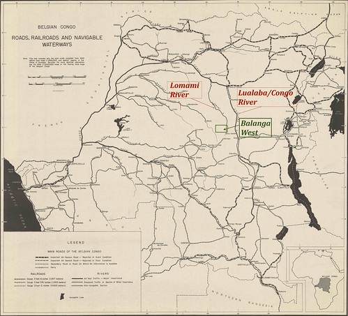 1943_Belgian Congo transportation map