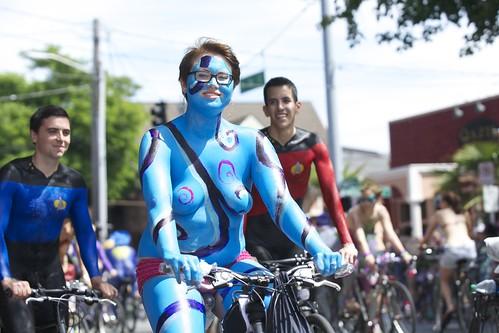 Fremont Solstice Parade 2013   Annual Naked Bike Parade