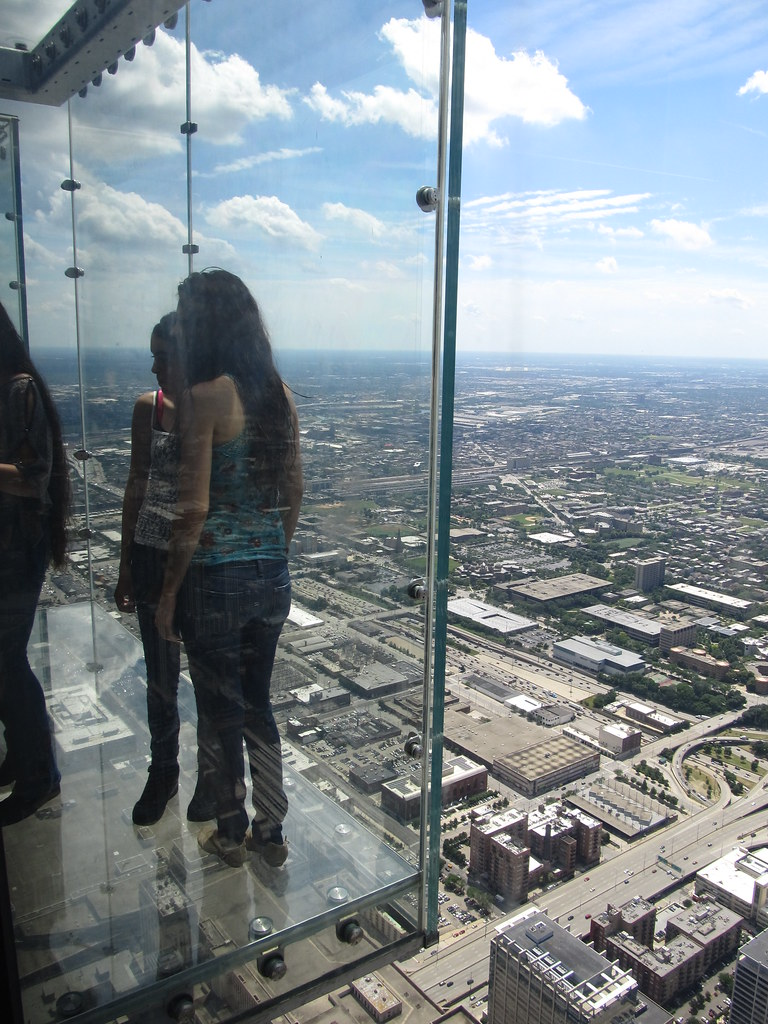 Glass Balconies Looking West From Willis Tower Skydeck C