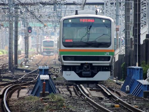 JR Tokaido line in Yokohama