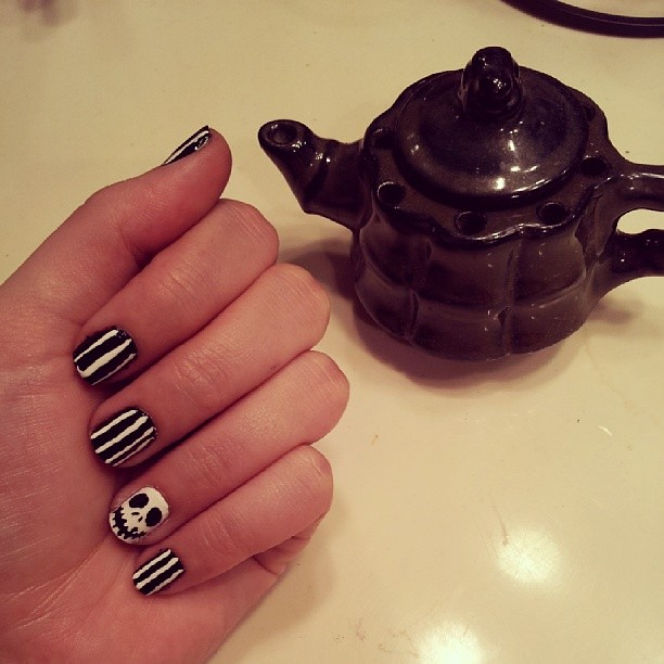 Tried Out The Jackskellington Nail Art Nightmarebef Flickr
