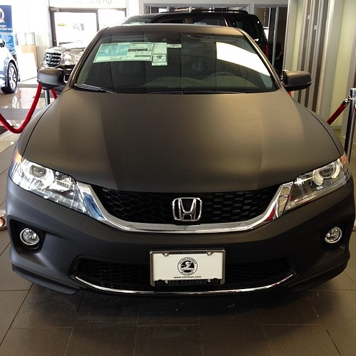 2014 Honda Accord Coupe wrapped in Matte Black #Honda #Hon ...