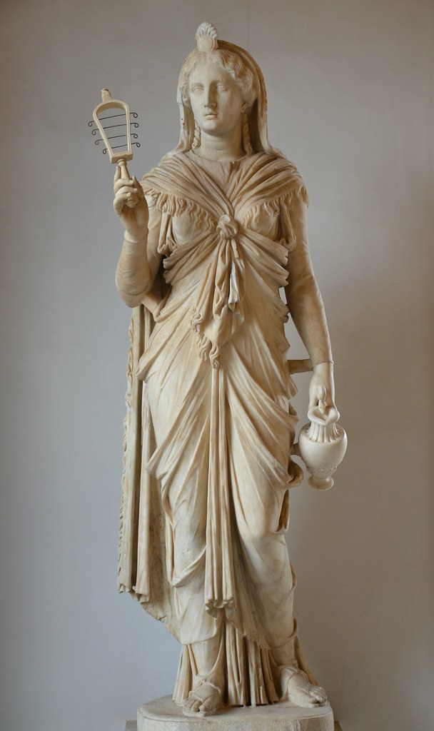 Marble Statue Of Isis The Goddess Holds A Situla And Sist