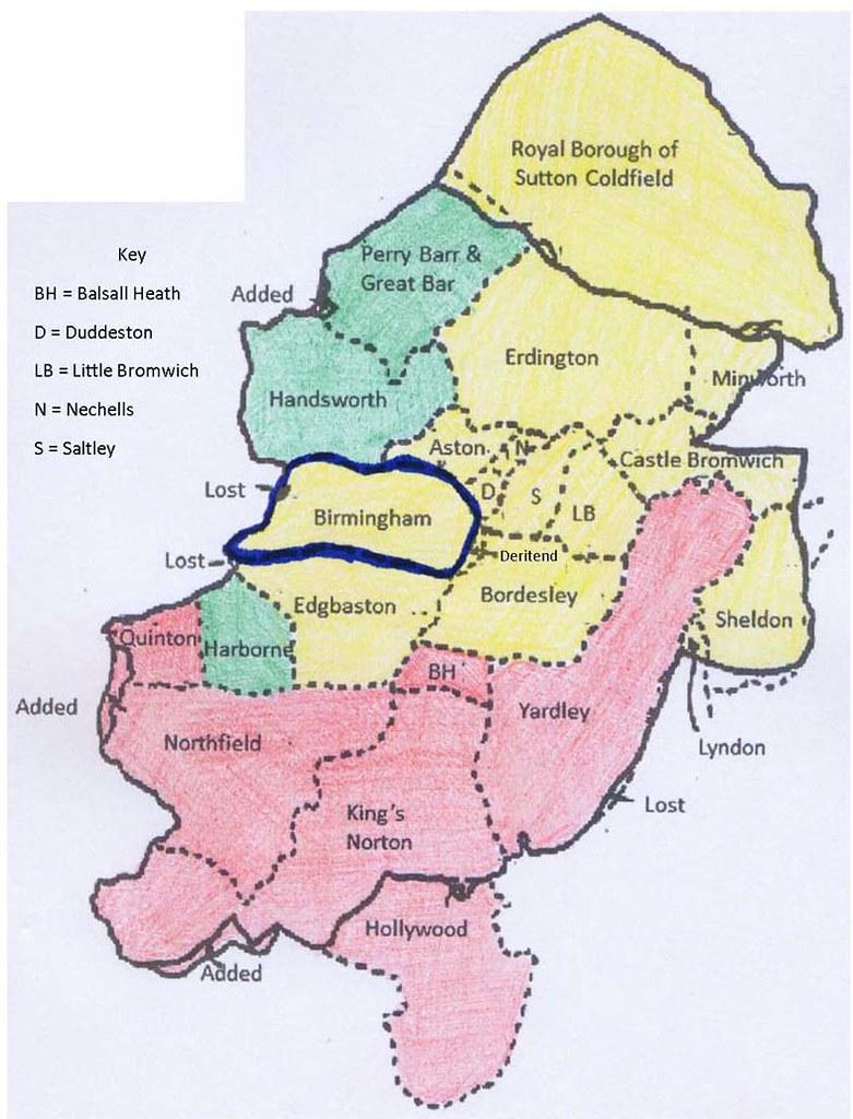 Greater Birmingham Map John Hemming Flickr