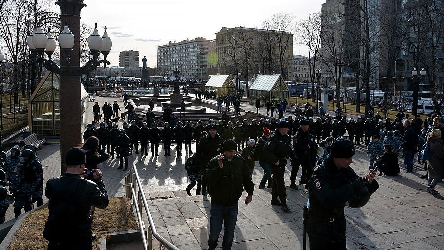 ОМОН зачистил Пушкинскую площадь