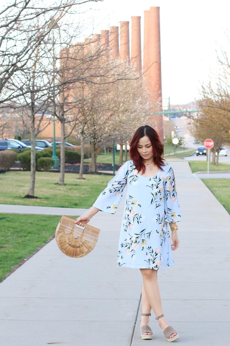 spring-floral-dress-wooden-ark-bag-wedges-8