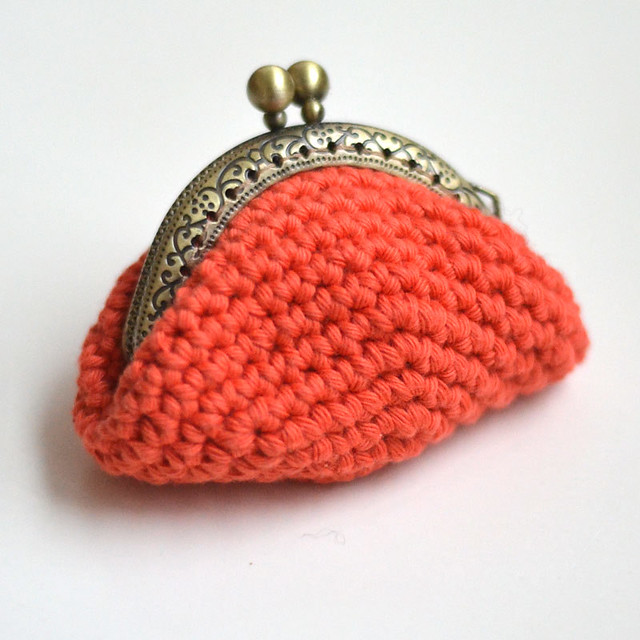 porte monnaie au crochet vintage