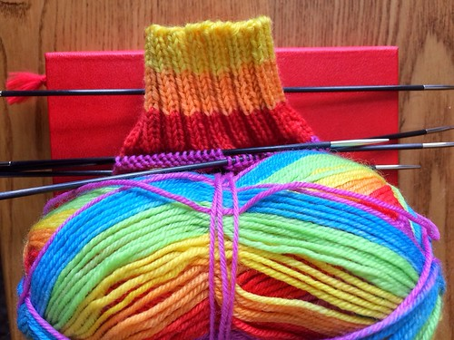 Rainbow socks! | by heatheratjoeyshouse