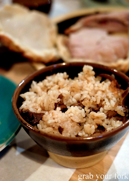 Takikomi gohan mixed rice with mushroom at Restaurant Sasaki Japanese restaurant in Surry Hills Sydney