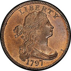 1797 Cent from the Nichols Hoard obverse