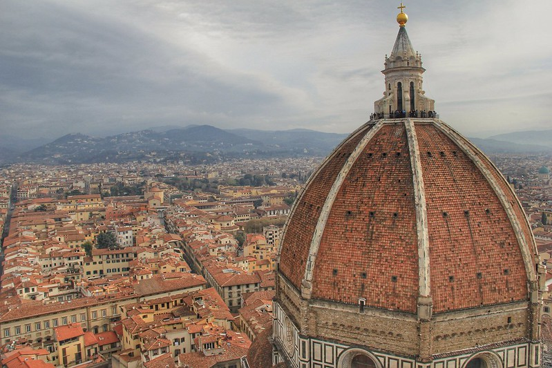 View from the campanile of Florence's Duomo