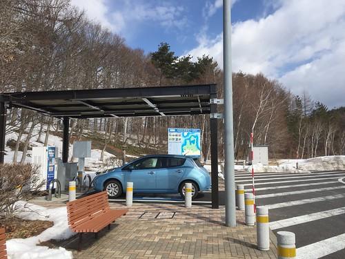 八戸自動車道 折爪SA(下り) EV急速充電器