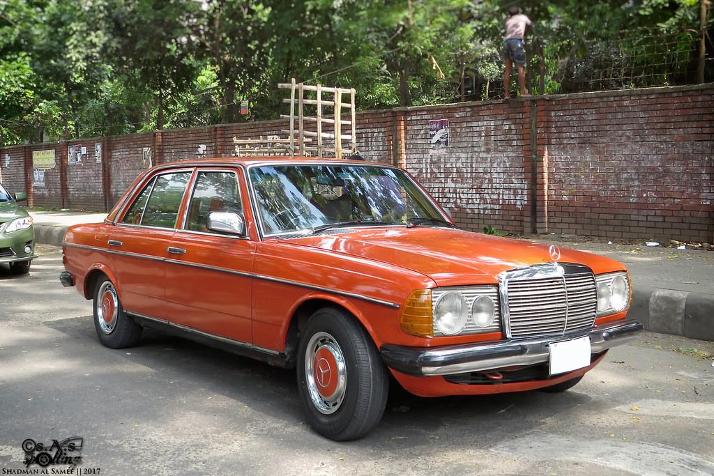 Orange merc mercedes benz w123 bangladesh dhaka 2017 for Mercedes benz orange