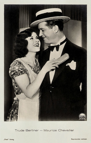 Trude Berliner and Maurice Chevalier