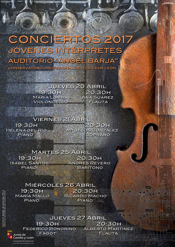 CONCIERTOS JÓVENES INTÉRPRETES 2017 - CONSERVATORIO DE LEÓN