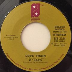 O'JAYS:LOVE TRAIN(LABEL SIDE-A)