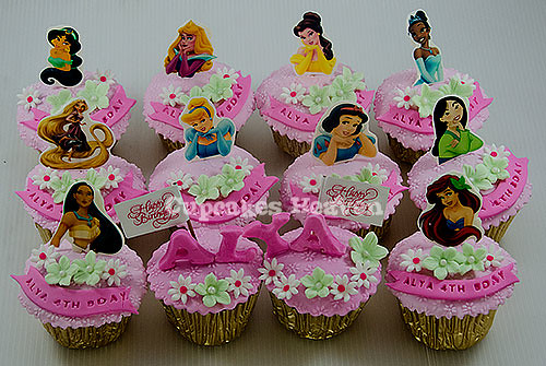 princess birthday cupcakes jakarta indonesia | yuli ...