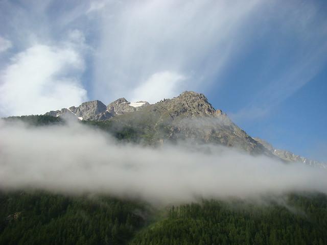 012 Uitzicht vanuit hotel in Villar d'Arene