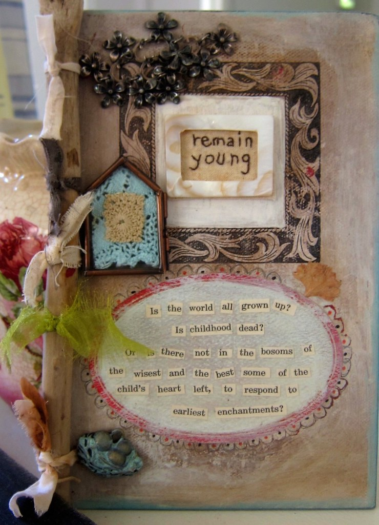 A Blue Book >> mixed media handmade book cover | Constanza | Flickr