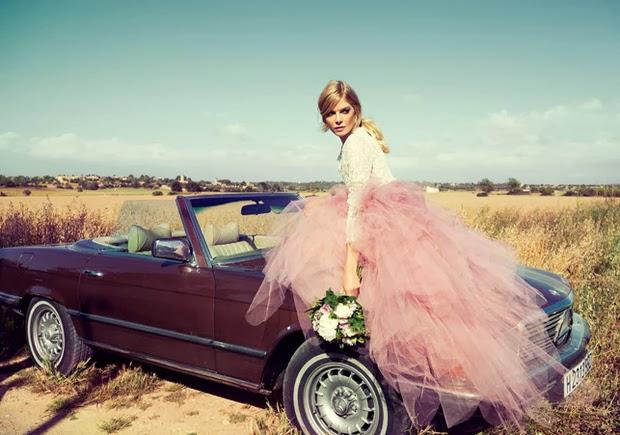 falda tul rosa coche
