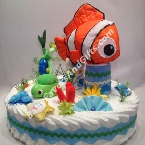 Finding Nemo Diaper Cake Unique Baby Shower Gift Ideas B