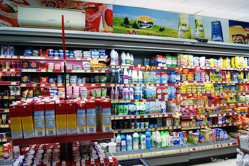 """Молочные продукты в супермаркете """"Voli"""""""