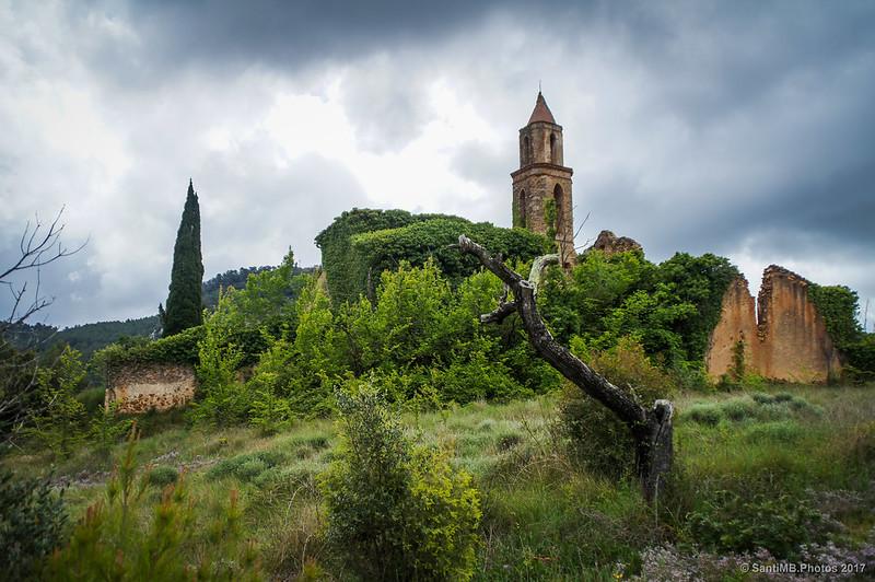 Sant Miguel de Marmellar desde el prado del norte