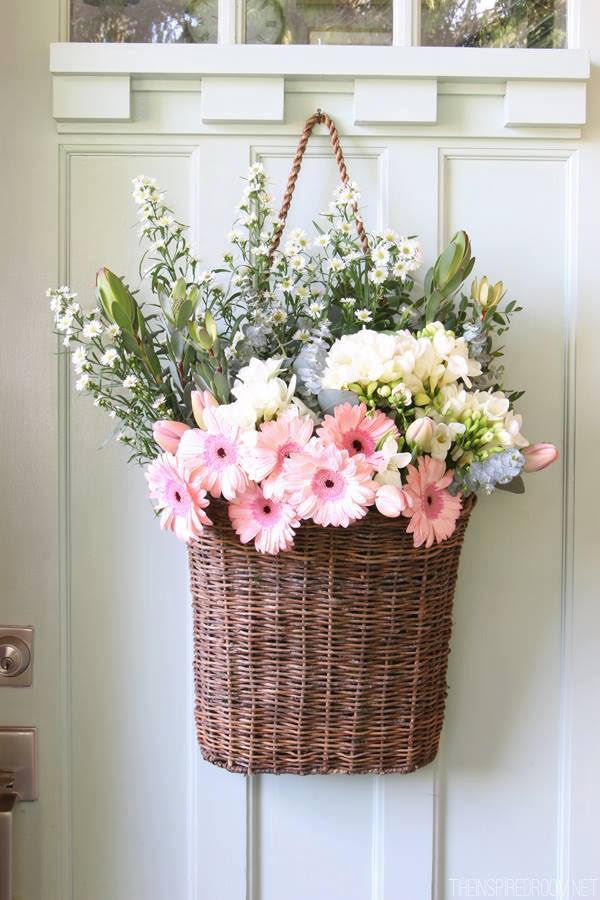 Fresh Spring Flower Basket Decor