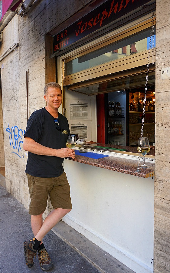 Trieste Italy Walk Up Bar