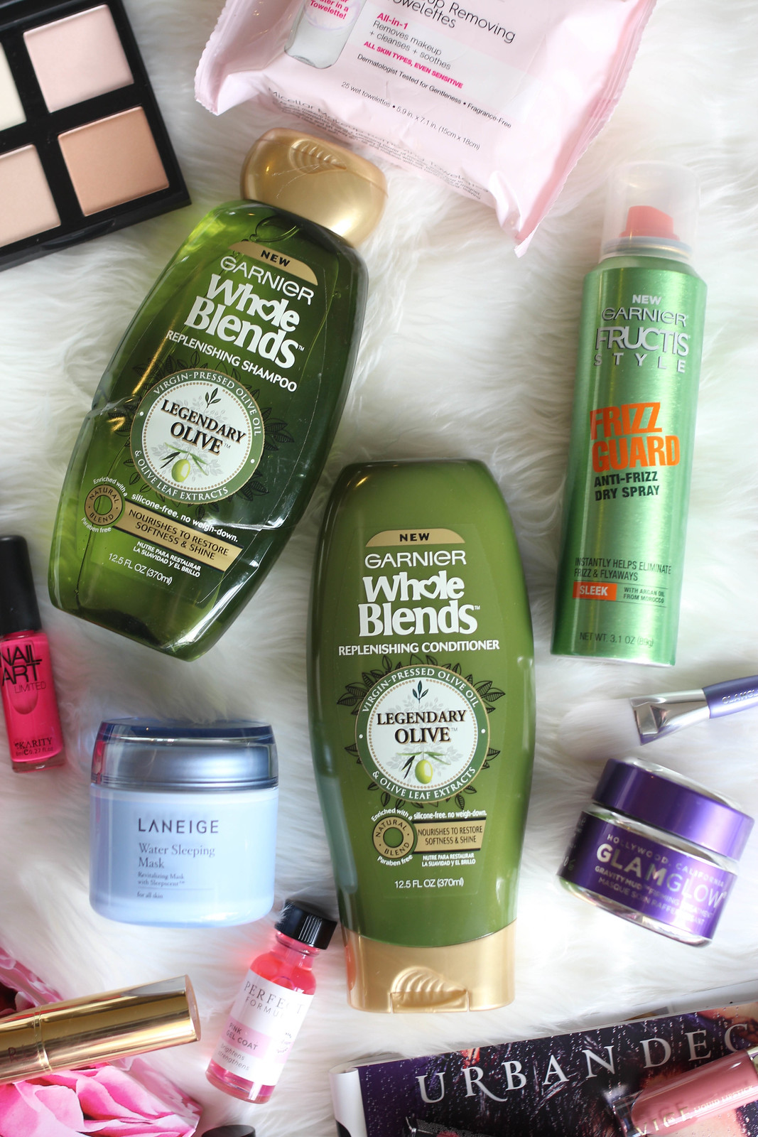 Garnier Whole Blends Legendary Olive Replenishing Shampoo and Conditioner Living After Midnite February Beauty Essentials