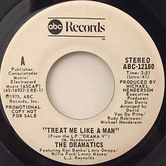 THE DRAMATICS:TREAT ME LIKE A MAN(LABEL SIDE-B)