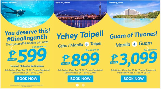 Cebu Pacific Air Promo Treat Yourself