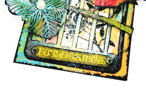Meihsia Liu Simply Paper Crafts Mixed Media Tag Bird Cage Wings Tim Holtz Simon Says Stamp 4