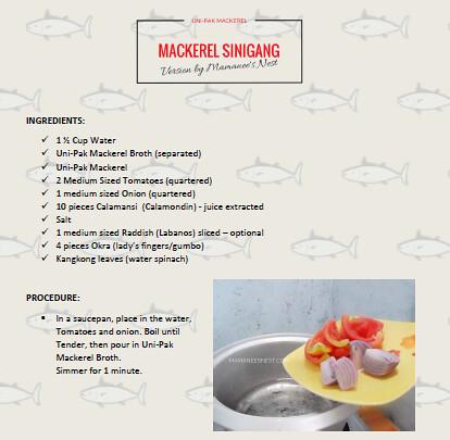 UniPak Mackerel Sinigang