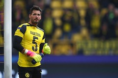 during the UEFA Champions League Quarter Final first leg match between Borussia Dortmund and AS Monaco at Signal Iduna Park on April 12, 2017 in Dortmund, Germany. The match was rescheduled after an alleged terrorist attack on the Borussia Dortmund team c