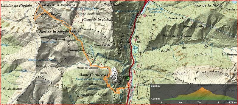 la madalena mapa