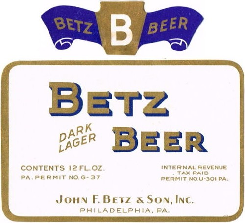 Betz-Dark-Lager-Beer-Labels-John-F-Betz | by jbrookston