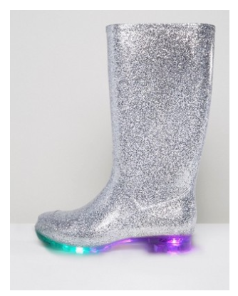 sparkly rainboots