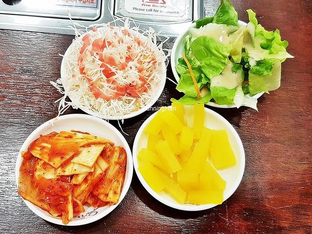 Sides - Kimchi Baechu / Kimchi Pickled Cabbage, Kkakdugi / Cubed Pickled Daikon Radish, Coleslaw With Strawberry Sauce, Caesar Salad