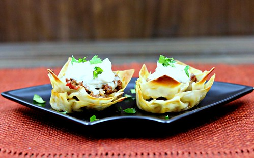 muffin tin taco cups front | by Sweet Beginnings Blog