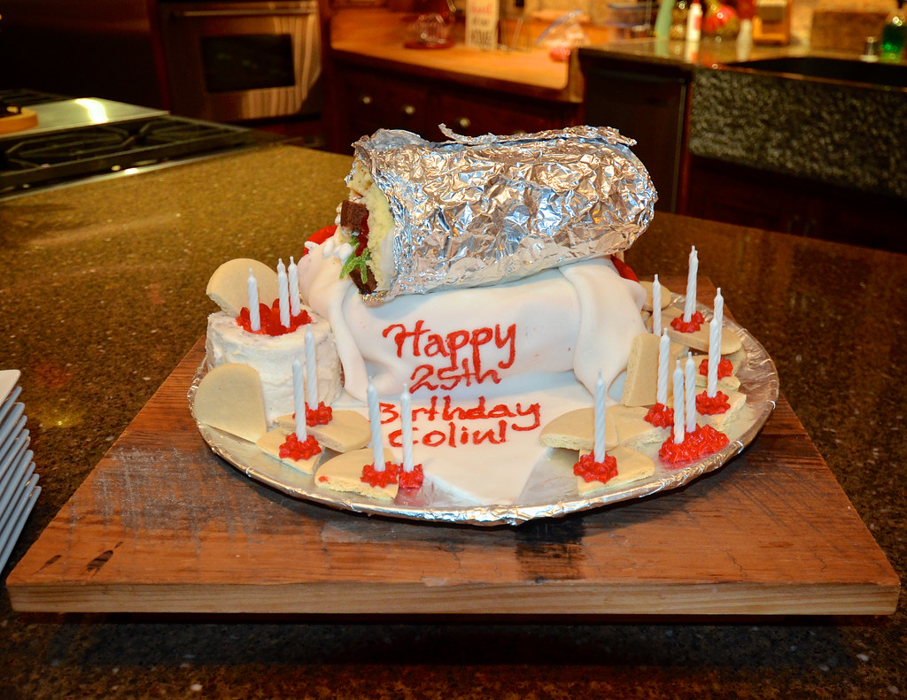 Burrito Shaped Cake