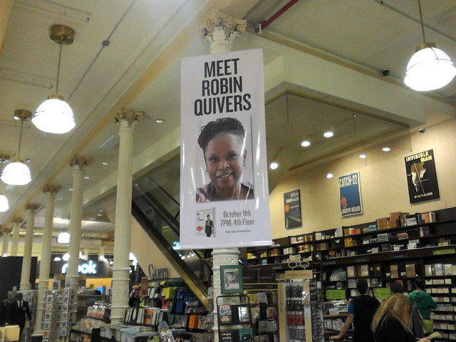 Giant Meet Robin Quivers In Store Banner Advertising Her 10 09 13 Appearance At Barnes And