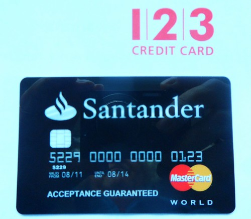 Santander 123 credit card it 39 s a condition of using our - Cad santander ...